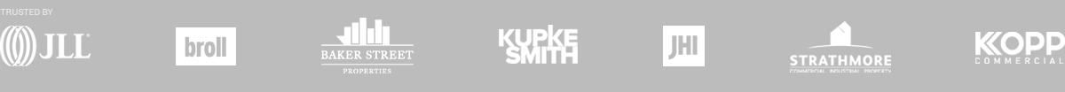 Trusted by JLL Broll Baker Street Kupke Smith JHI Strathmore Kopp Commercial